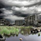 apokalyptisk liggande Royaltyfria Bilder