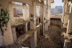 Apokalyptiska väggar och kolonner Royaltyfria Foton