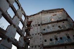 Apokalyptiska väggar och kolonner Arkivbilder
