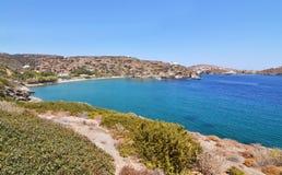 Apokofto beach at Sifnos Greece royalty free stock photography