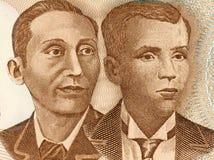 Apolinario Mabini y Andres Bonifacio Imagen de archivo libre de regalías