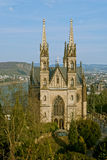 Apollinaris church in Remagen, Germany. Apollinaris church, on the site of a Roman temple on the Apollinarisberg, a hill above the German town of Remagen Stock Image