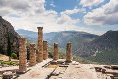 Apollo świątynia Delfi Zdjęcia Stock