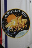 Apollo 13 Mission Badge. A banner at Johnson Space Center with the Apollo 13 Mission Badge Royalty Free Stock Images