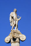 Apollo. The marble statue Apollo in Athens, Greece stock image