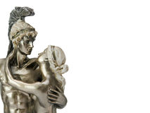 Apollo and Aphrodite statue isolated couple in love background with copy space Stock Images