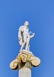 apollo athens gudgreece staty Arkivbild