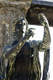 Apollo bóg statua w Pompeii Obrazy Royalty Free