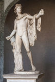 The Apollo of the Belvedere. Is Roman copy of Hadrianic date  ca  120-140  of a lost bronze original made by the Greek sculptor Leochares  Belvedere courtyard Stock Images