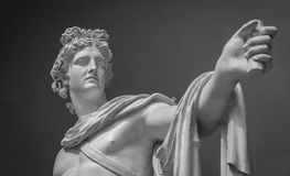 Apollo Belvedere statue Detail Stock Photo