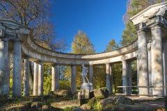 Apollo belweder w Pavlovsk parku, święty Petersburg, Rosja Obrazy Stock