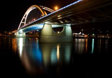Apollo-Brücke in Bratislava Lizenzfreies Stockfoto