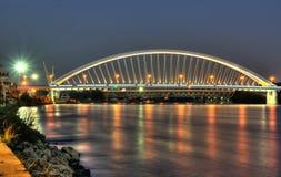 Apollo-Brücke am Abend Stockfotografie