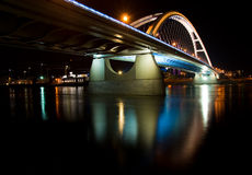 Apollo bridge in Bratislava Stock Photography
