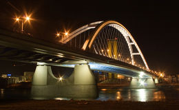 Apollo bridge in Bratislava Royalty Free Stock Photography