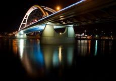 Apollo bridge in Bratislava. In Slovakia in the night Royalty Free Stock Photo