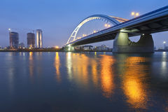Apollo bridge in Bratislava. Royalty Free Stock Photos