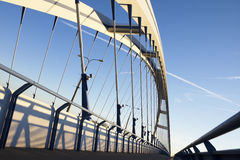 Apollo bridge in Bratislava. Slovakia, over Danube river Royalty Free Stock Photos