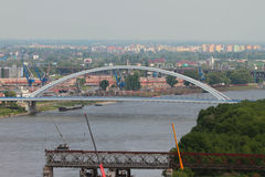 Apollo Bridge (Most Apollo) and Franz Josef Bridge dismantle. Bratislava, Slovakia Stock Image