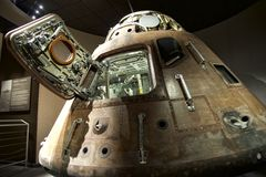 Apollo 13 capsule displayed at NASA Stock Photos