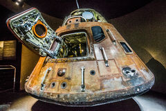 Apollo 11 Capsule. Space capsule is an often manned spacecraft which has a simple shape for the main section, without any wings or other features to create lift royalty free stock photos