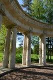 Apollo-colonnade in Pavlovsk park stock foto's