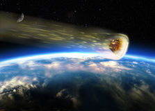 Apollo coming back. Apollo command module burning in its re-entering in the atmosphere of the Earth Royalty Free Stock Photo