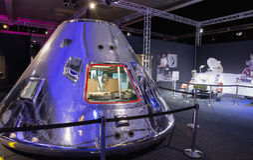 Apollo command module at Ehibition Cosmos Royalty Free Stock Photo