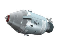 Apollo Command Service Module. Isolated on white background. 3D render Stock Photo
