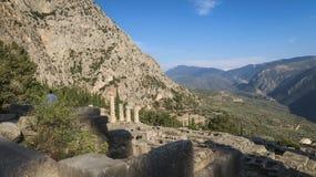 Apollo, Delphes, Grèce photographie stock