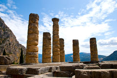 apollo delphi greece tempel Royaltyfria Foton
