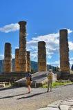 apollo delphi greece tempel Fotografering för Bildbyråer