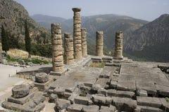 apollo delphi tempel Royaltyfria Bilder