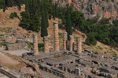 apollo delphi tempel Royaltyfri Bild