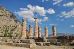 apollo delphi tempel Arkivfoto