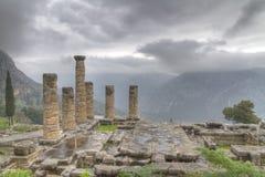 apollo delphi tempel Fotografering för Bildbyråer