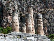 apollo delphi tempel Arkivbilder