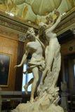 Apollo e Daphne, escultura de mármore pelo artista italiano Gian Lorenzo Bernini, galeria Borghese, imagens de stock royalty free