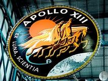 Apollo emblemat przy centrum lotów kosmicznych imienia johna f. kennedyego obraz stock