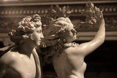 Apollo en Daphne door Gian Lorenzo Bernini Stock Foto's