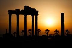 apollo fördärvar tempelet Fotografering för Bildbyråer