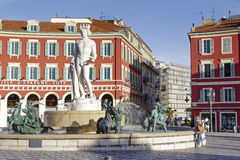 Apollo at Fontaine du Soleil in Nice Royalty Free Stock Photos