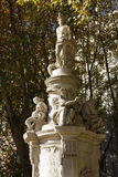Apollo Fountain. The Apollo Fountain also call the Four Seasons. It is located in the Paseo del Prado in Madrid (Spain Stock Images