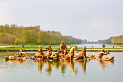 Apollo fountain in the garden of Versailles palace royalty free stock images