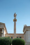 Apollo in front of the Academy of Athens Stock Images