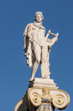 Apollo god statue. Classical Apollo god statue, athens, greece Royalty Free Stock Images