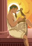 Apollo. God of the sun Apollo playing his lyre. No transparency used Royalty Free Stock Image