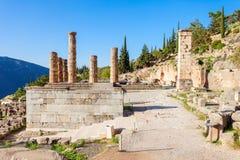 apollo greece tempel Arkivbilder