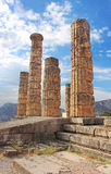 apollo greece tempel Royaltyfria Foton