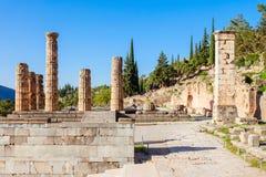 apollo greece tempel Arkivfoton